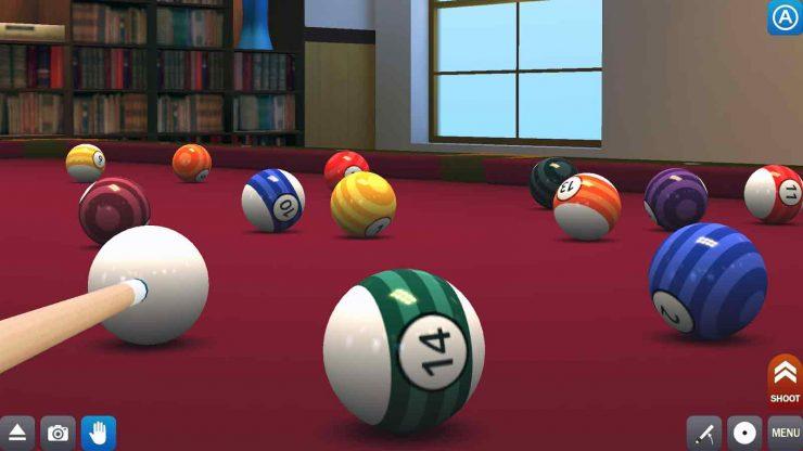 d billiards 4 740x416 بازی فوق العاده بیلیارد آنلاین اندروید+مود